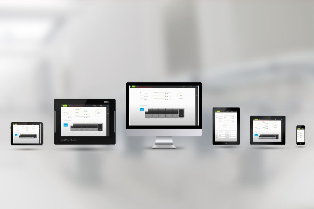 Responsive Design: HMI adapts automatically to different display size